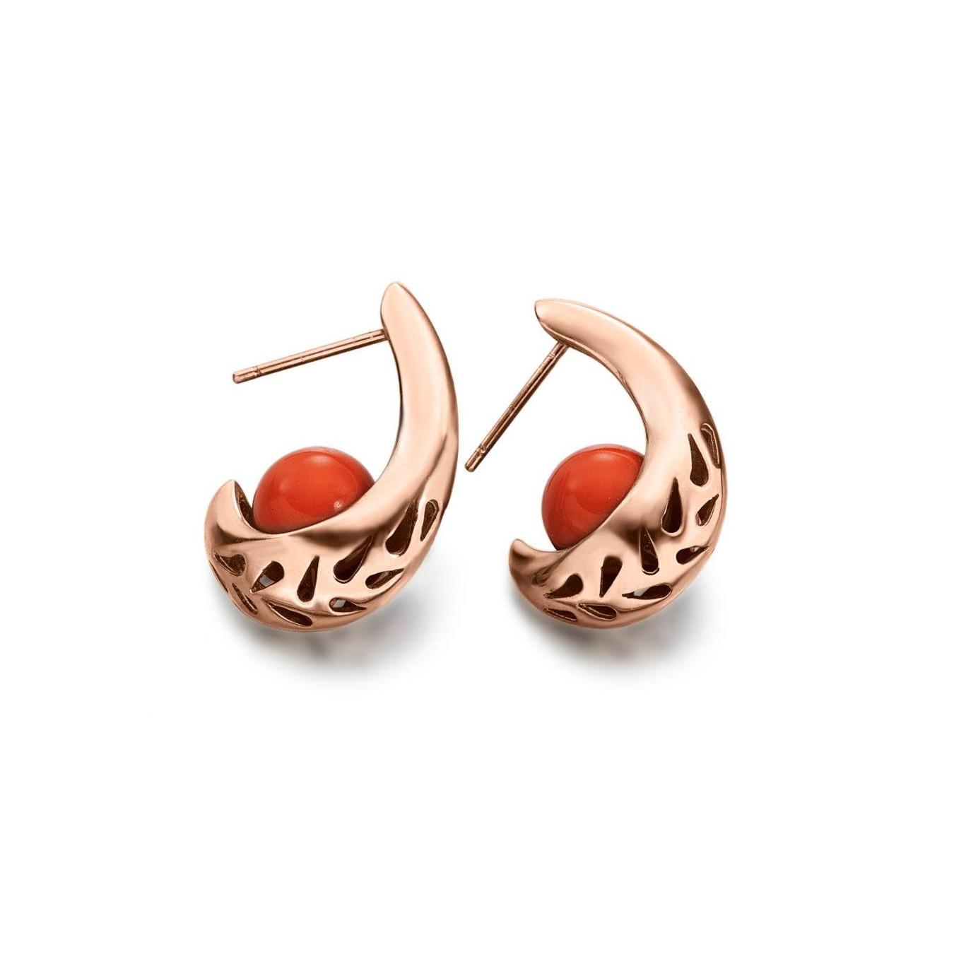 801951c57a77 Pendientes de plata rosa coral piropo joyas joyería juan luis larráyoz  pamplona comprar pendientes online