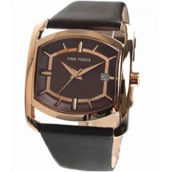 Reloj Time Force oro rosa esfera chocolate