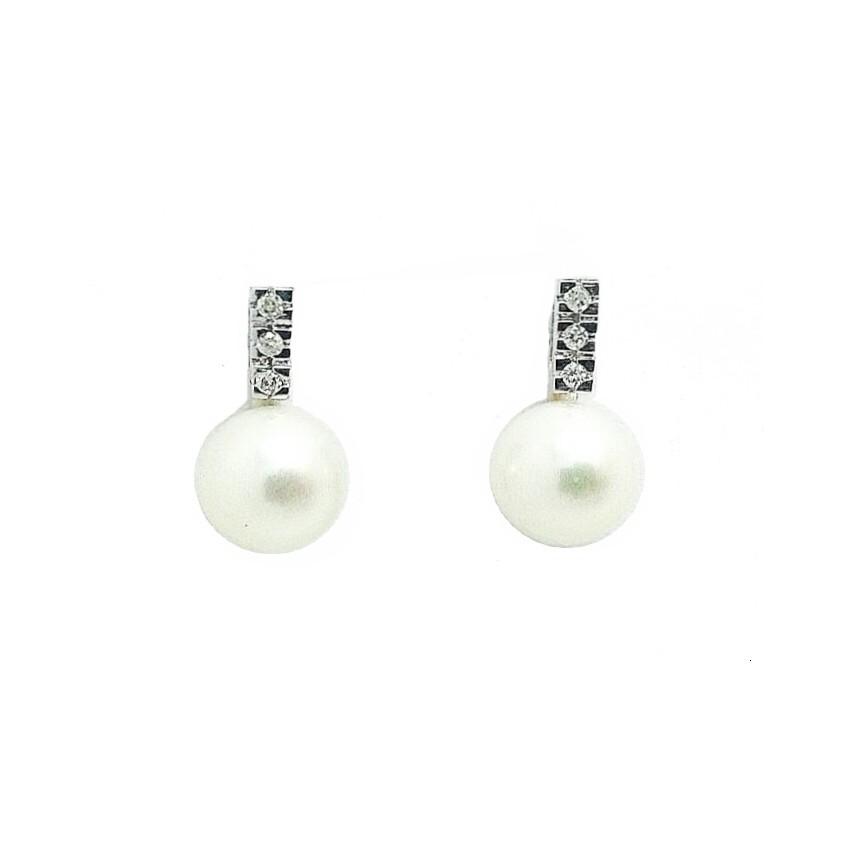 97c824b8f6c6 Pendientes de oro blanco y perla Joyería Juan Luis Larráyoz Pamplona