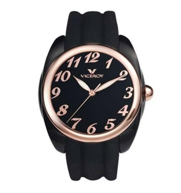Reloj Viceroy negro chica señora mujer blanco moderno oro rosa Joyería Juan  Luis Larráyoz Pamplona joyería 7da09998638a