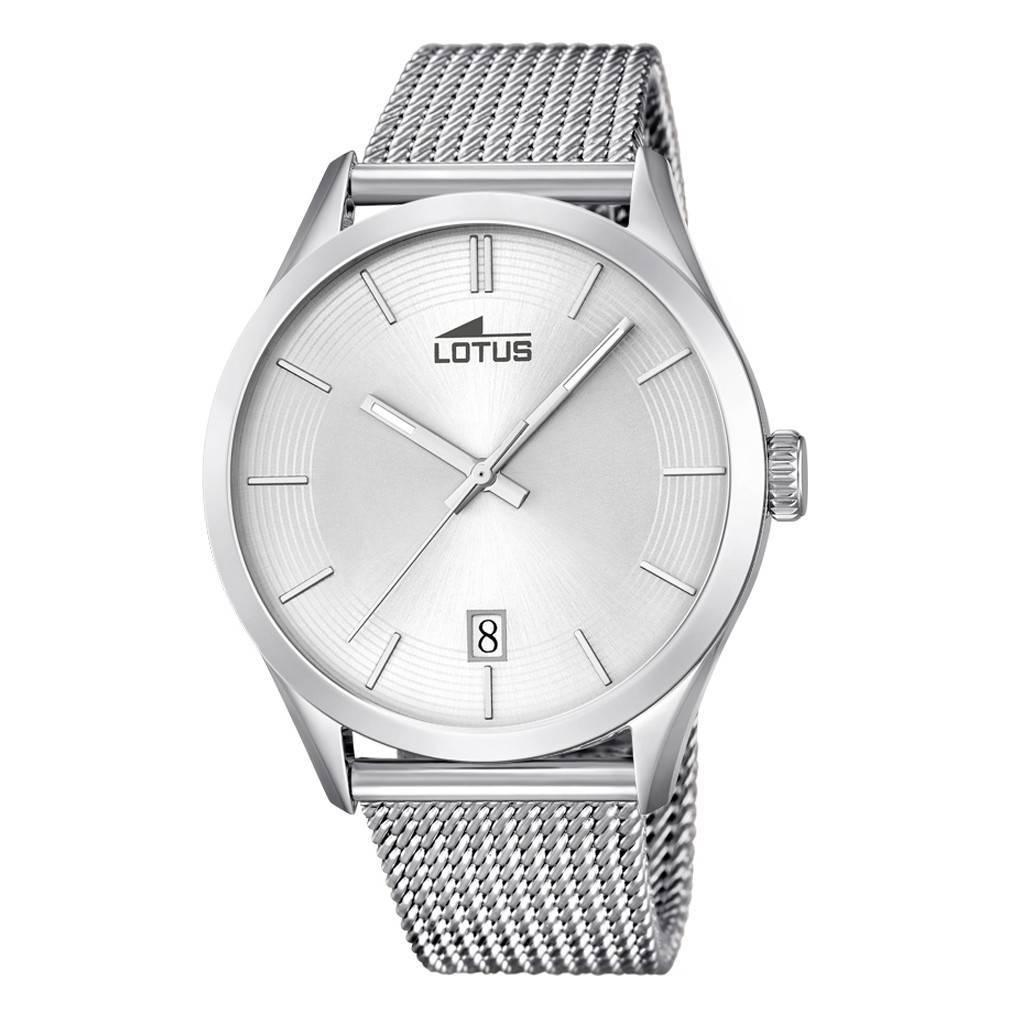 bad422f42ff5 Reloj Lotus clásico malla milanesa Joyería Juan Luis Larráyoz Pamplona  joyería relojería online comprar relojes lotus