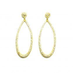 b7488027ad54 Pendientes de plata dorada y circonita