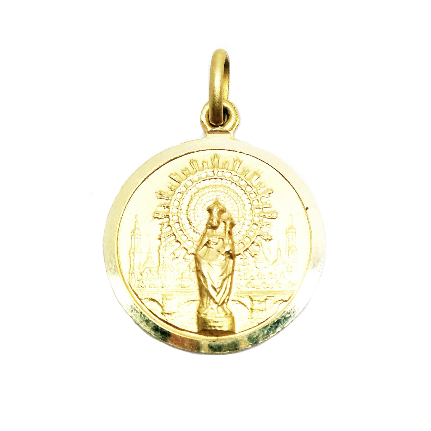 b7d9bfb13238 Medalla de oro virgen del pilar pilarica zaragoza joyería juan luis  larráyoz pamplona
