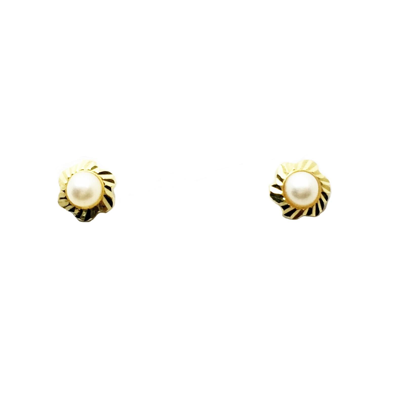858a95a9e2d0 Pendientes de oro perla niña Joyería Juan Luis Larráyoz Pamplona