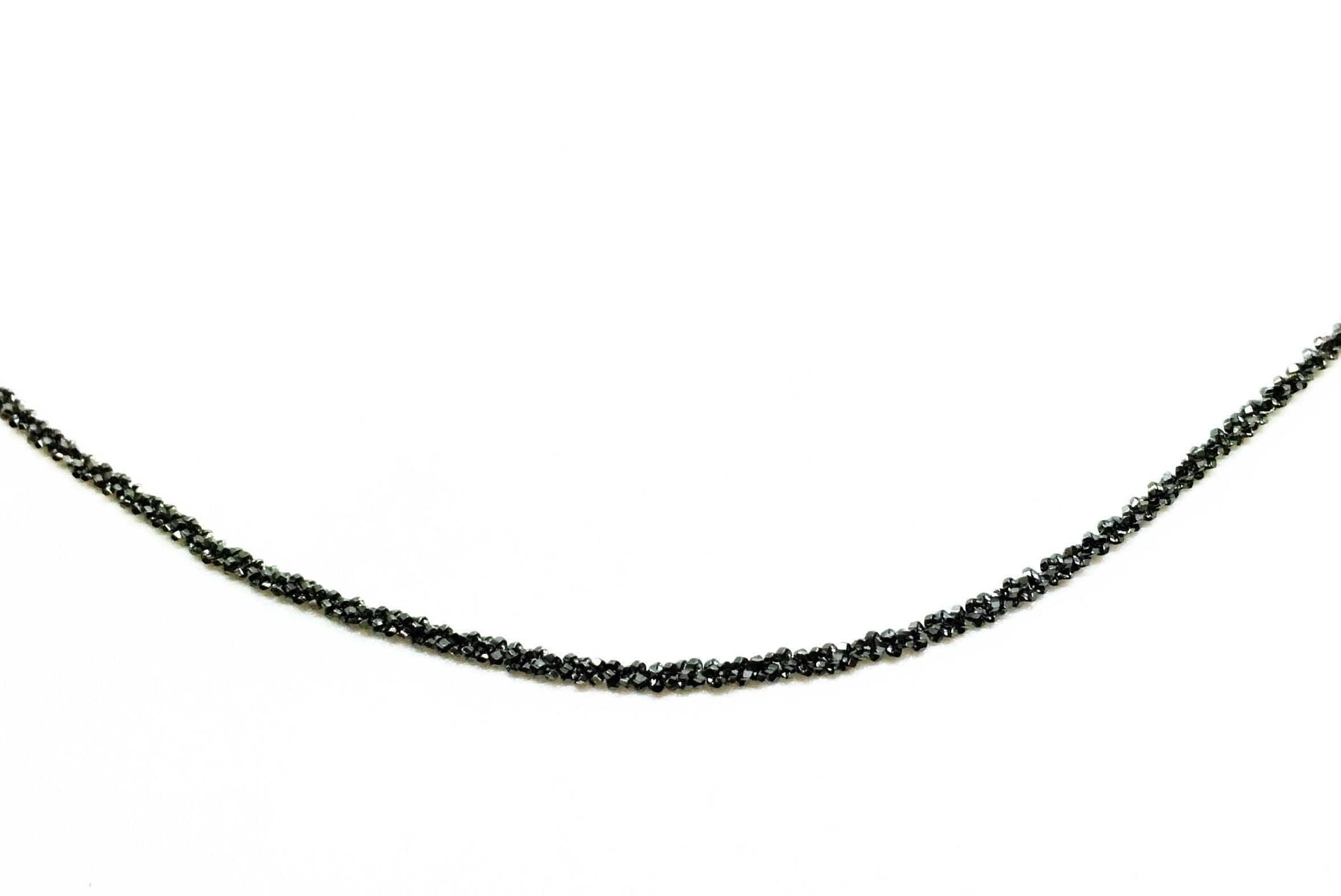 Cadena plata negra 45cm