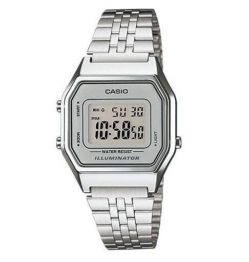 7470290a061d Reloj Casio retro plateado digital Joyería Juan Luis Larráyoz Pamplona  comprar relojes casio joyería online