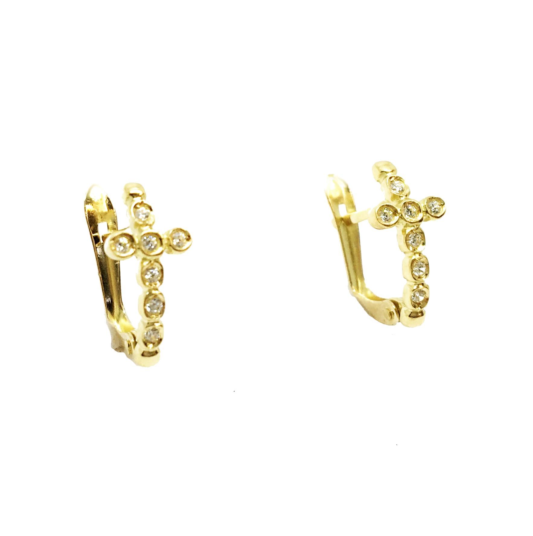 9330929c8844 Pendientes de oro Cruz Joyería Juan Luis Larráyoz Pamplona
