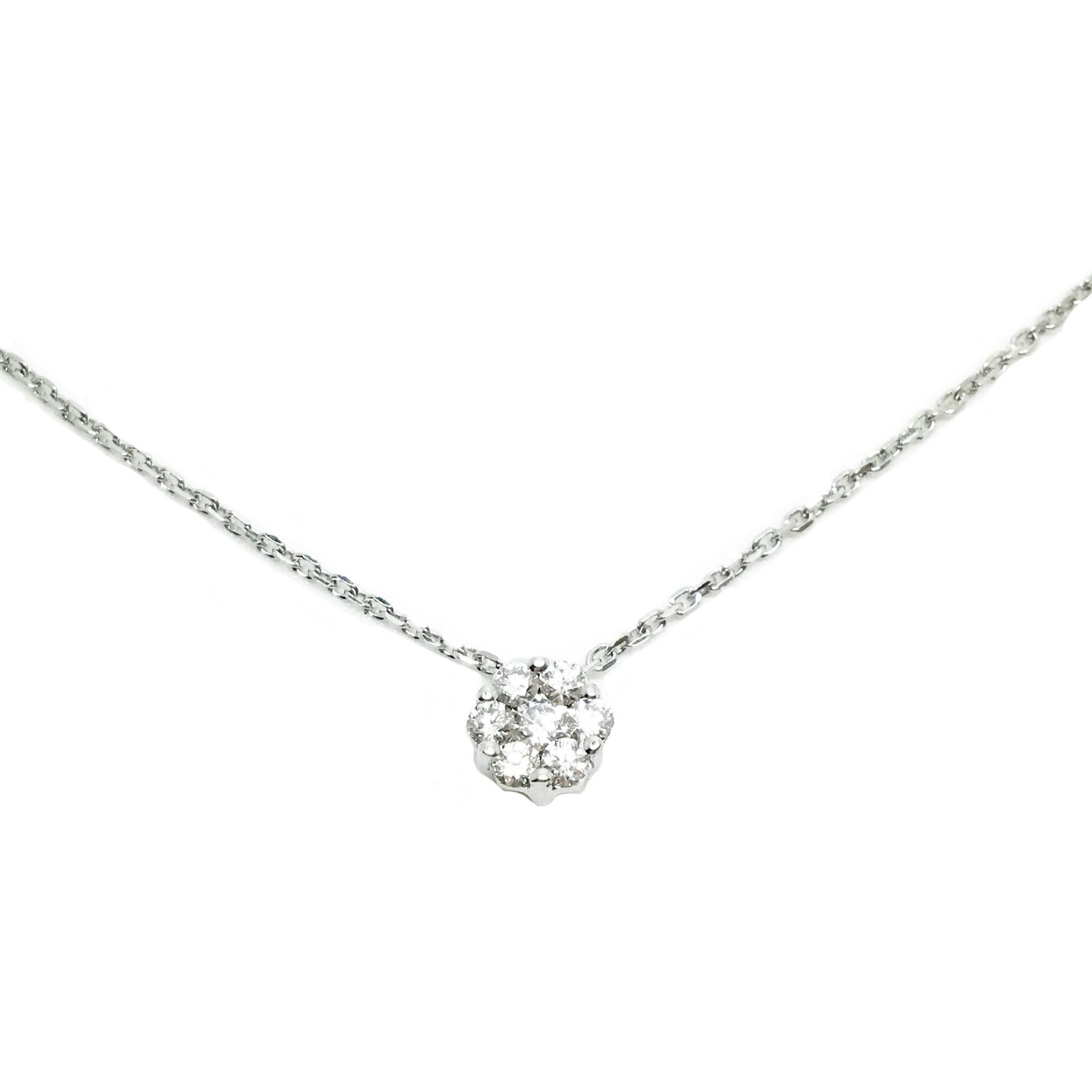 bfd8909edc68 Gargantillas de oro blanco diamante letra A joyería juan luis larráyoz  pamplona