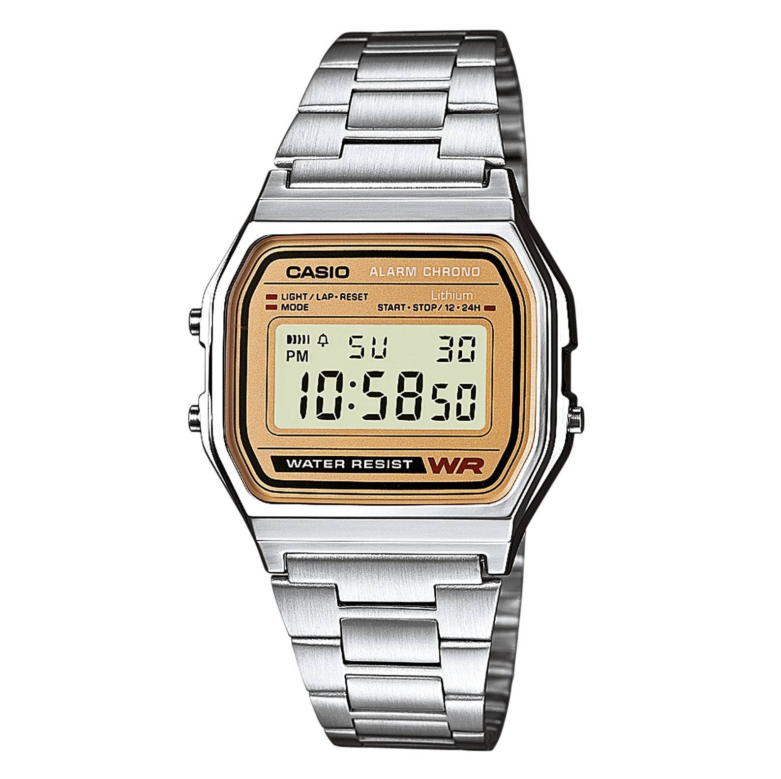 29008e6eba19 Reloj Casio retro dorado digital Joyería Juan Luis Larráyoz Pamplona  comprar relojes casio joyería online