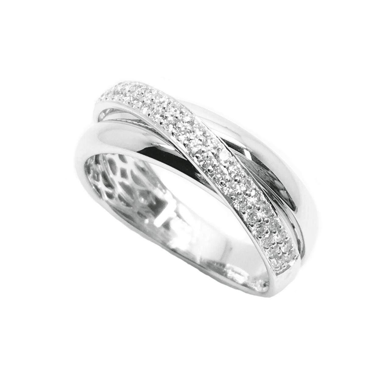 f5a643998247 Sortija de oro blanco diamante cruzado Joyería Juan Luis Larráyoz Pamplona  sortijas de compromiso pamplona sortija