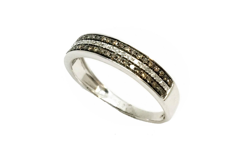 6da488c510f9 Sortija de oro blanco dimanate diamante brown Joyería Juan Luis larráyoz  Pamplona comprar online joyería online