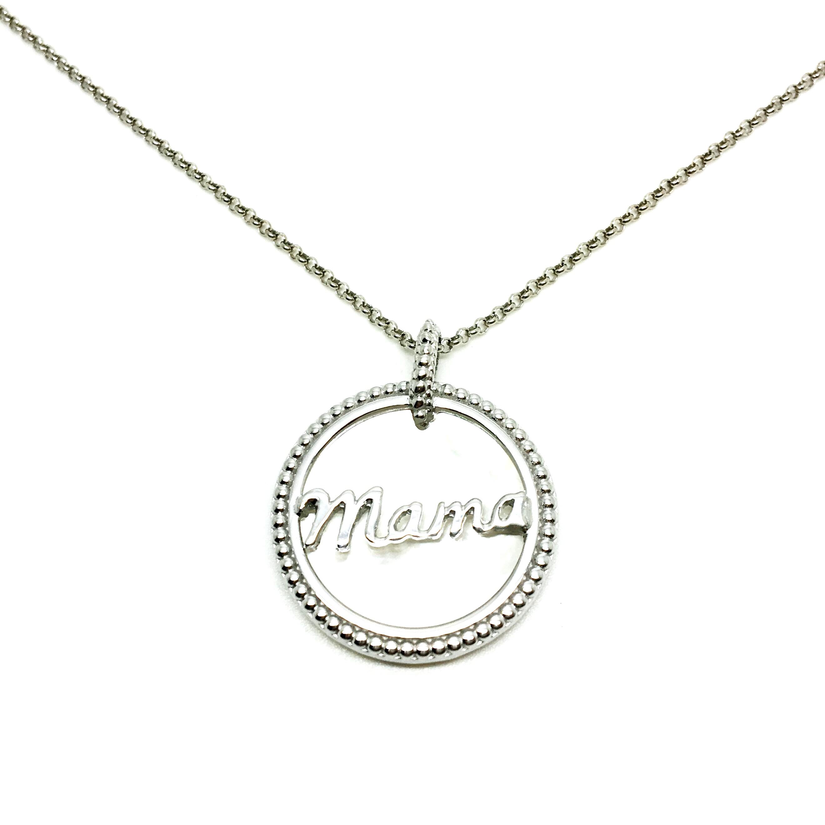9e3c1317a7c7 gargantilla de plata mama regalo dia de la madre joyería juan luis larráyoz  paplona