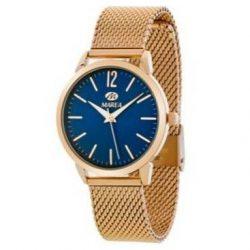 8cf5227d3013 Reloj Marea rosé malla milanesa esfera azul