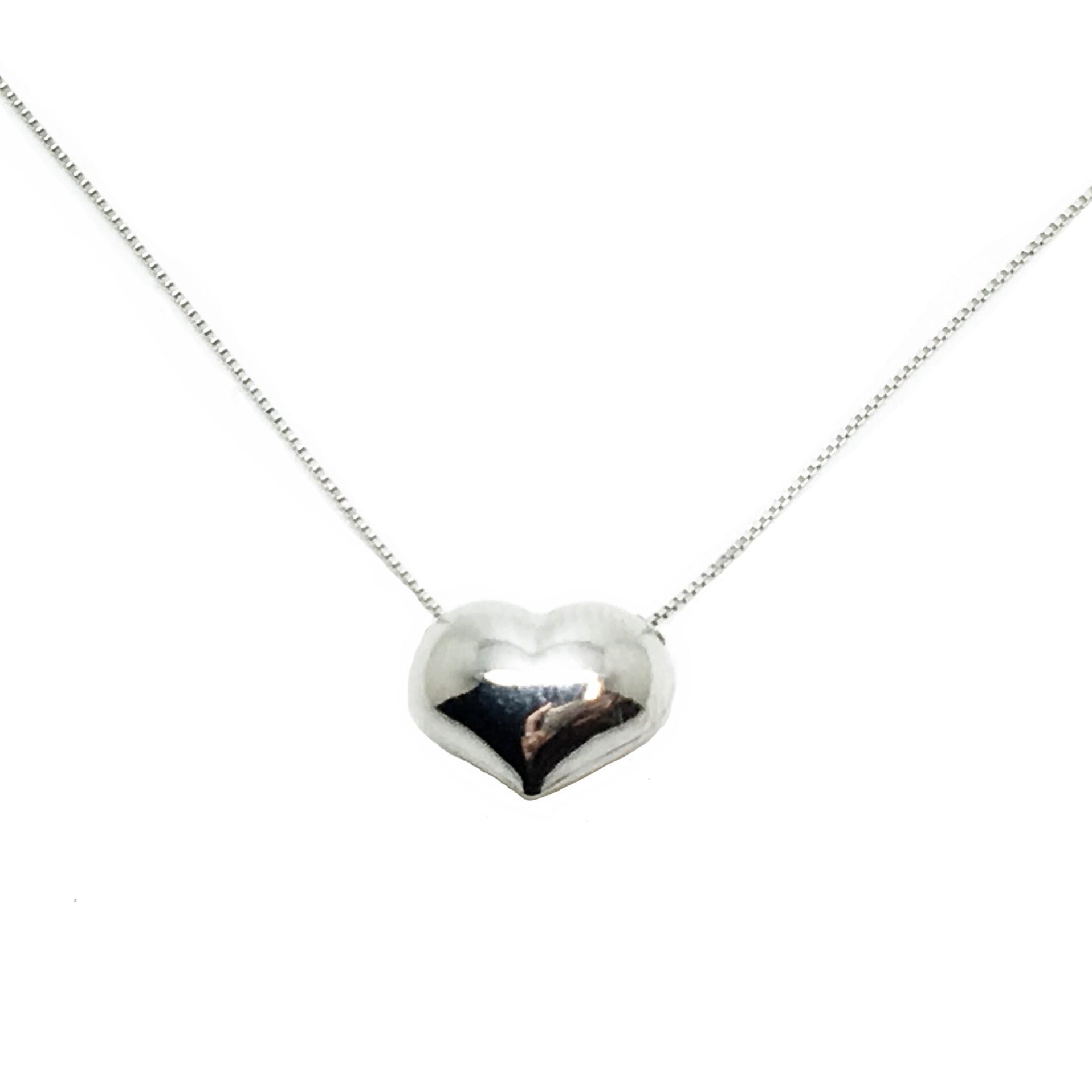diseño de calidad 75a27 34e16 Gargantilla de oro blanco Corazón
