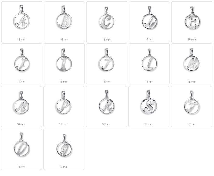 Colgante de plata con tu inicial-15873