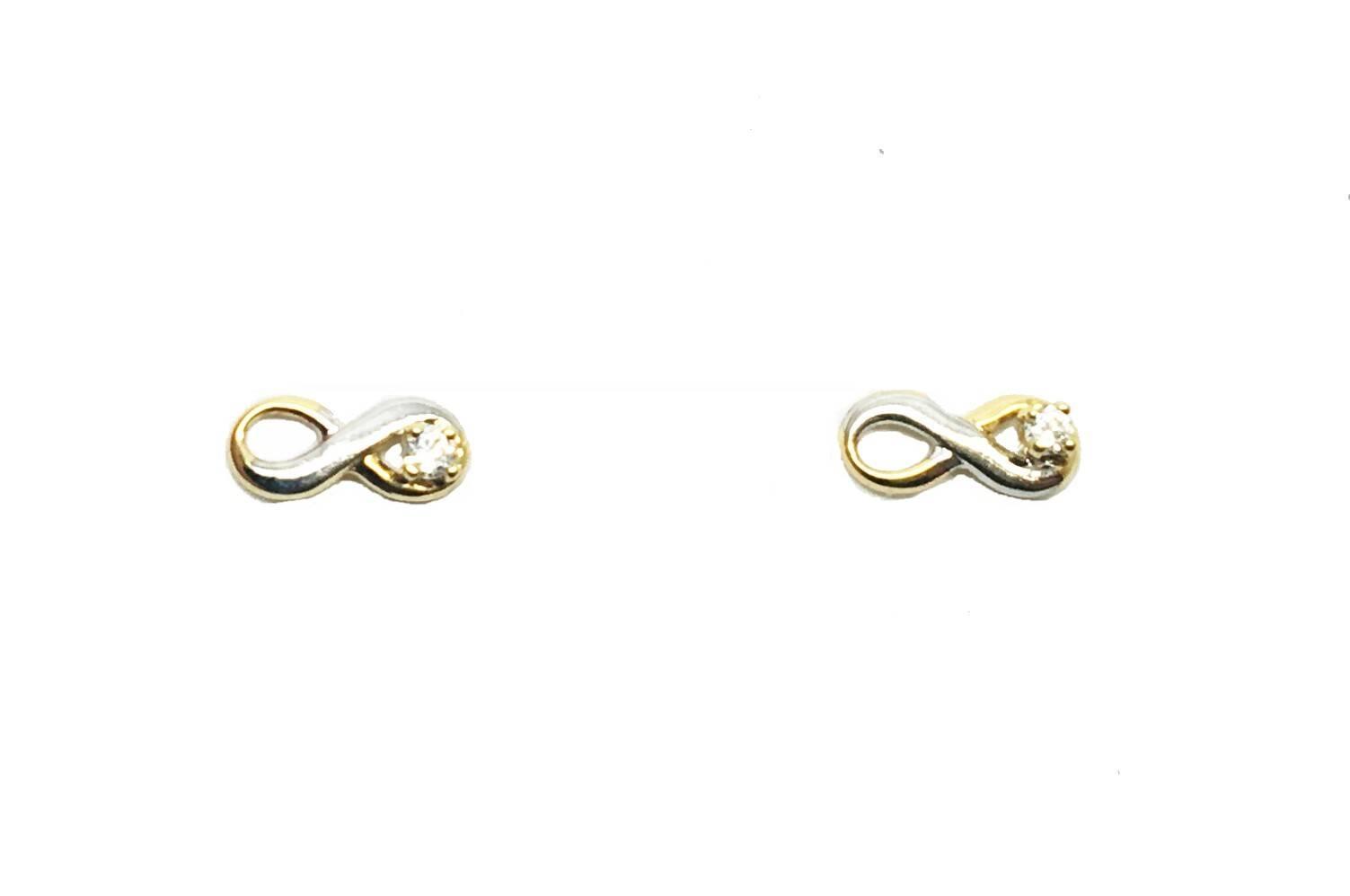 6c8ea9226fbb Pendientes de oro Infinito Joyería Juan Luis Larráyoz Pamplona comprar  infinito online joyería online