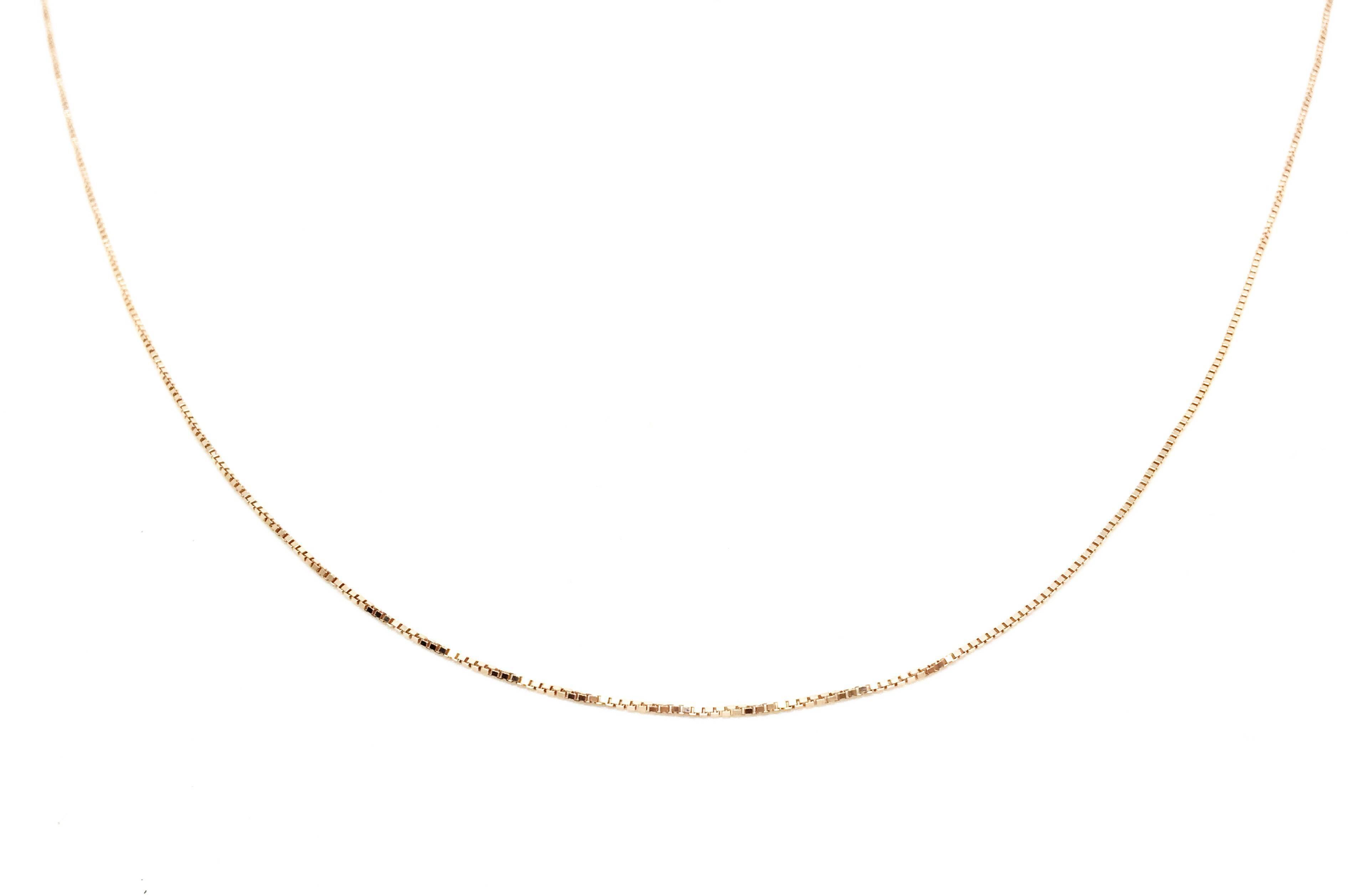 Cadena plata rosa 45cm -16948