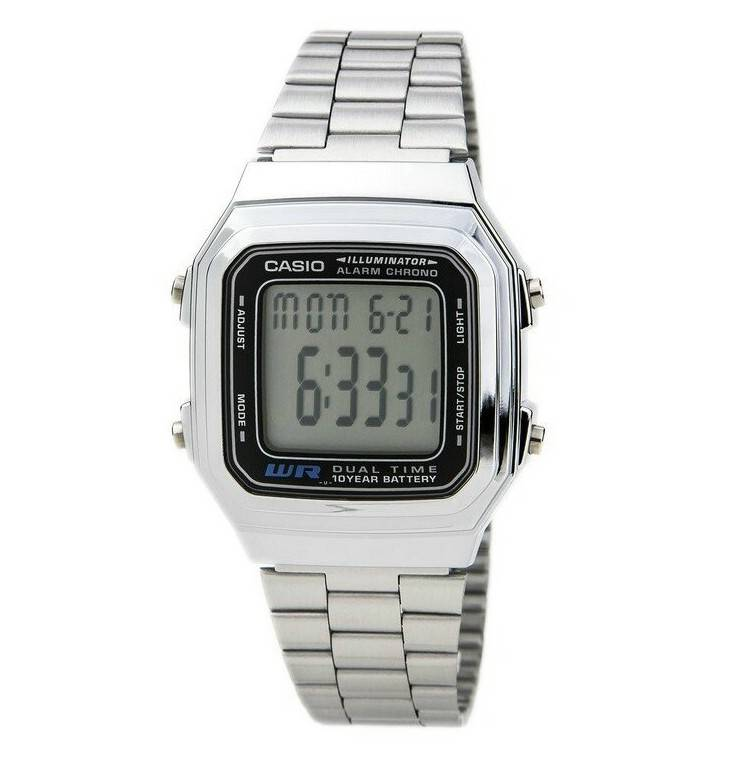 a37a1283503a Reloj Casio retro plateado digital Joyería Juan Luis Larráyoz Pamplona  comprar relojes casio joyería online