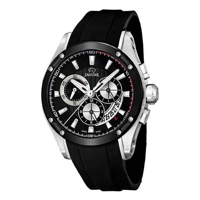 24c70371f8aa Reloj Jaguar crono negro deportivo sumergible 100m Joyería Juan Luis  Larráyoz Pamplona