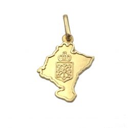 Colgante de oro Navarra Joyería Juan Luis Larráyoz Pamplona joyería online comprar colgante de mapa de navarra