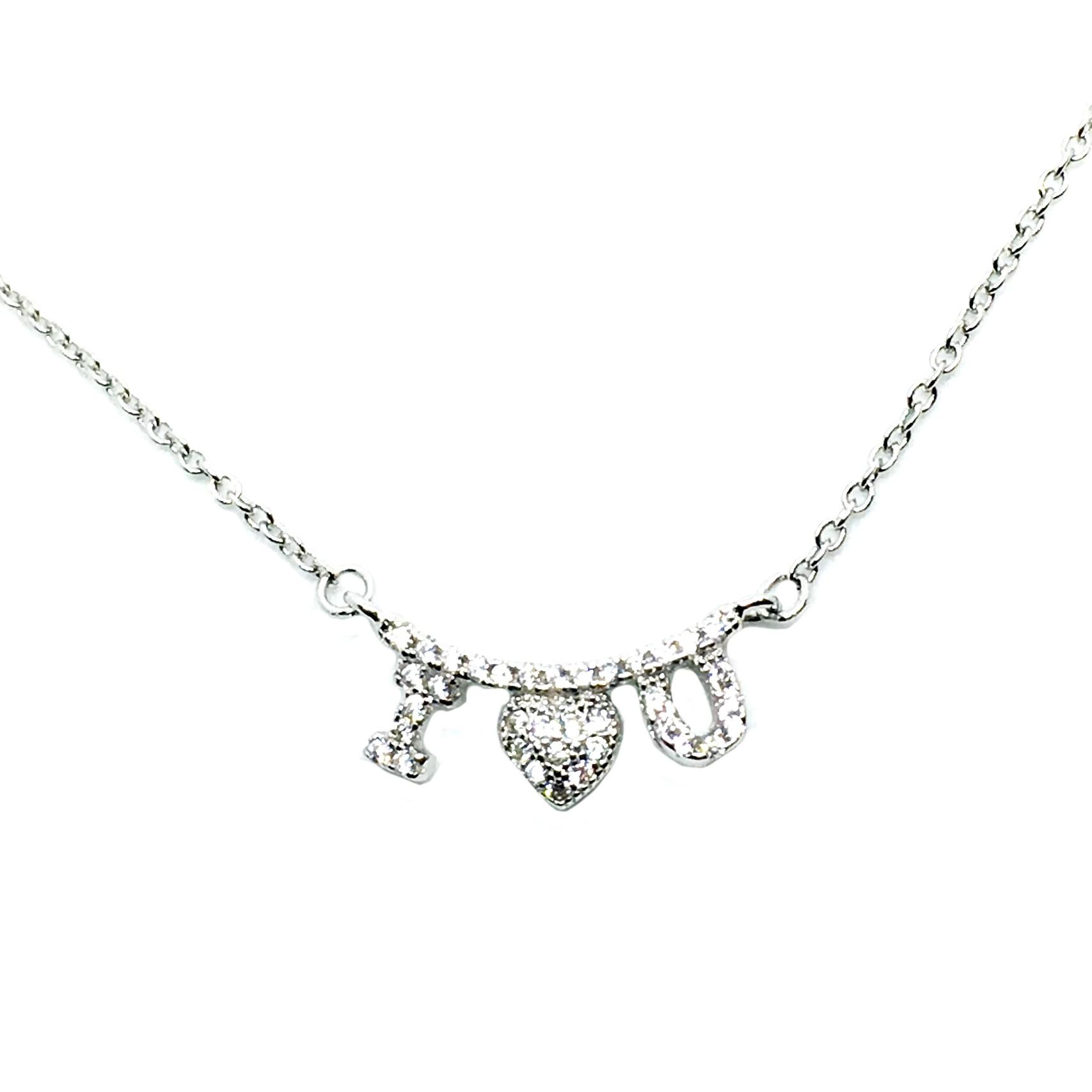 423de83dab84 Gargantilla de plata i love you colgante corazón flecha especial san  valentín enamorados joyería juan luis