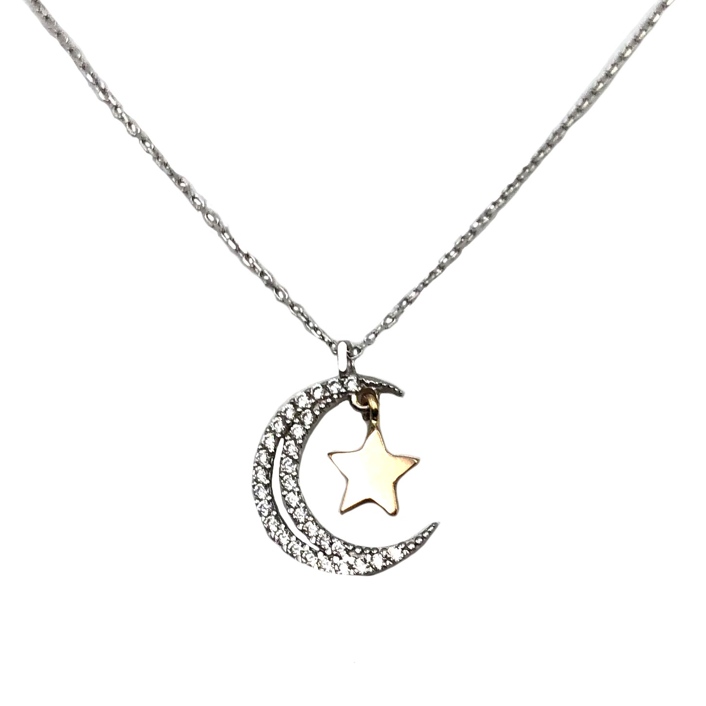 4042e9ec9d1e gargantilla de oro blanco luna estrella oro rosa joyería juan luis larráyoz  pamplona