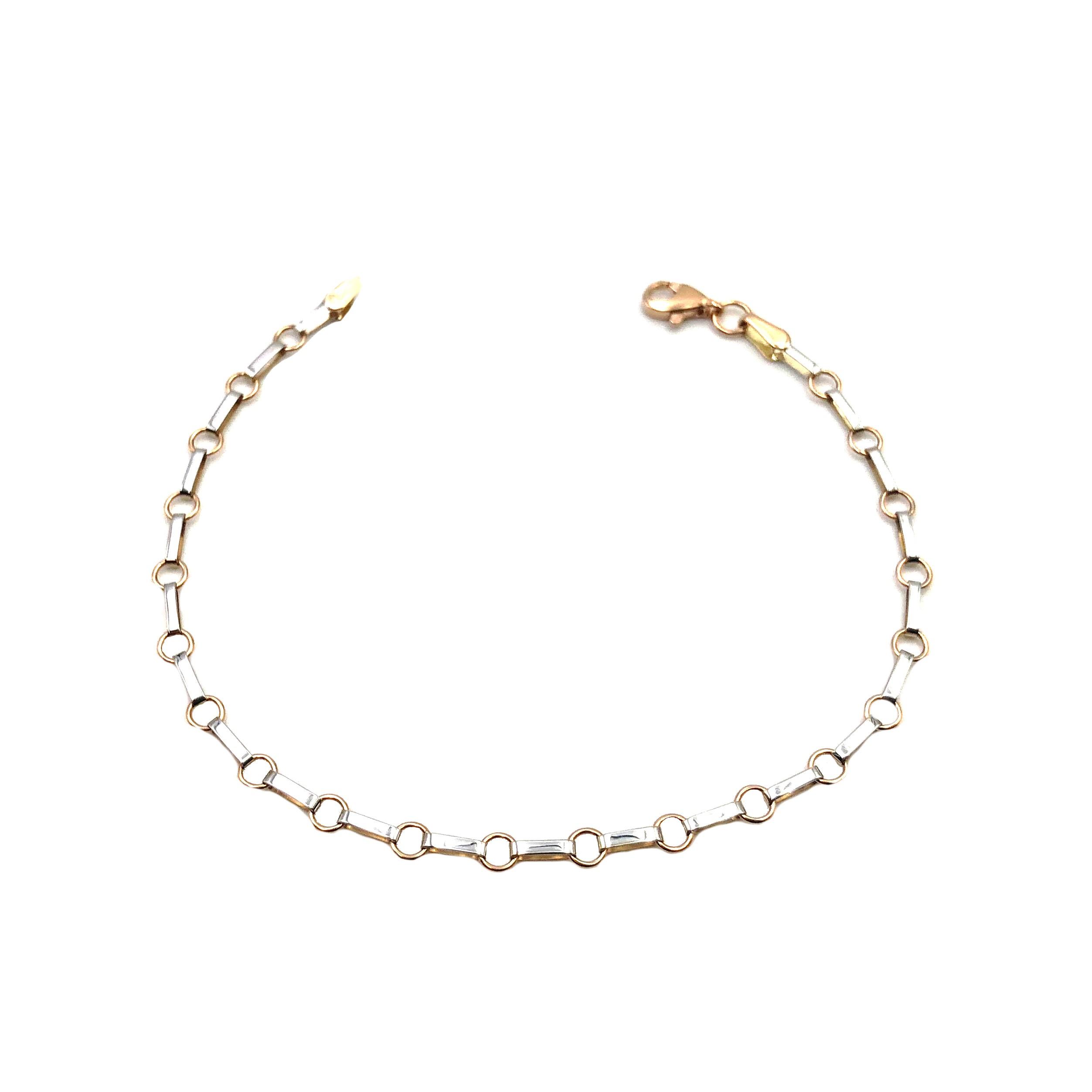 37815cef17fd pulsera de oro rosa y oro blanco joyería juan luis larráyoz pamplona