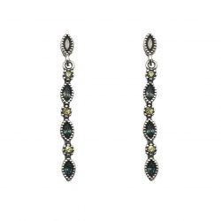 pendientes de plata estilo étnico con pedrería joyería juan luis larráyoz pamplona