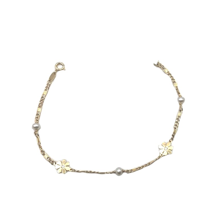 9d7c139b88db pulsera de oro y perla flores joyería juan luis larráyoz pamplona