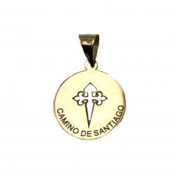 medalla camino de santiago recuerdo camino peregrino colgante de oro vieira concha camino de santiago joyería juan luis larráyoz pamplona