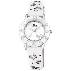 3e992e3558b6 Reloj Lotus de niña blanco Mariposa pack pulsera de regalo