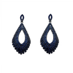 pendientes de plata pedrería negra y azul joyería juan luis larráyoz pamplona