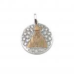 Medalla de plata bicolor san fermín joyería juan luis larráyoz pamplona