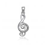 colgante de oro clave de sol joyería juan luis larráyoz pamplona regalo música músico