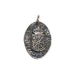 medalla de plata escudo de navarra joyería juan luis larráyoz pamplona
