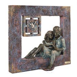 Reloj de sobremesa escultura descanso anglada regalo boda bodas de plata bodas de ro joyería juan luis larráyoz pamplona
