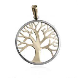 colgante de oro árbol de la vida 13mm joyería juan luis larráyoz pamplona