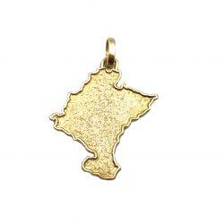 Colgante de oro Mapa de Navarra Joyería Juan Luis Larráyoz Pamplona navarra comprar online joyería online