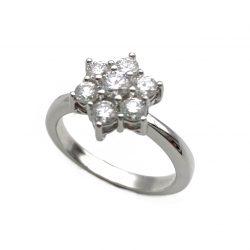 sortij de oro blanco y diamantes 0,8 flore joyería juan luis larráyoz pamplona