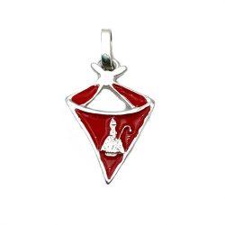 colgante de plata pañuelico rojo pañuelo san fermin pañuelo fiestas joyería juan luis larráyoz pamplona