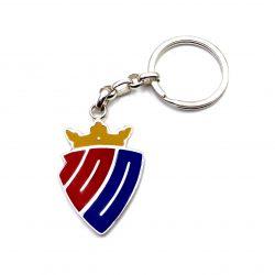 llavero escudo centenario osasuna plata. producto oficial club atlético osasuna