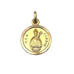 Medalla de oro San Fermín 13mm Joyería Juan Luis Larráyoz Pamplona