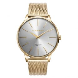 reloj viceroy dress ip dorado cristal zafiro