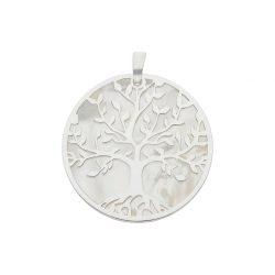 colgante de plata y nácar árbol de la vida joyeía juan luis larráyoz pamplona