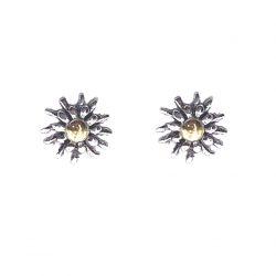pendientes de plata eguzkilores bicolor joyerías juan luis larráyoz pamplona